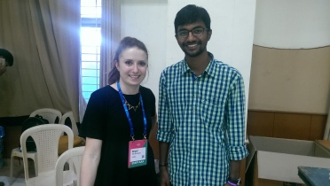 Harsha with Brigid Mckeown, Senior Event Coordinator, Web Summit, SURGE, RISE etc